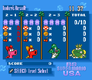 Screenshot Thumbnail / Media File 1 for BS Super Mario USA - Power Challenge - Dai-2-kai (Japan) (BS) [En by KingMike v1.0]
